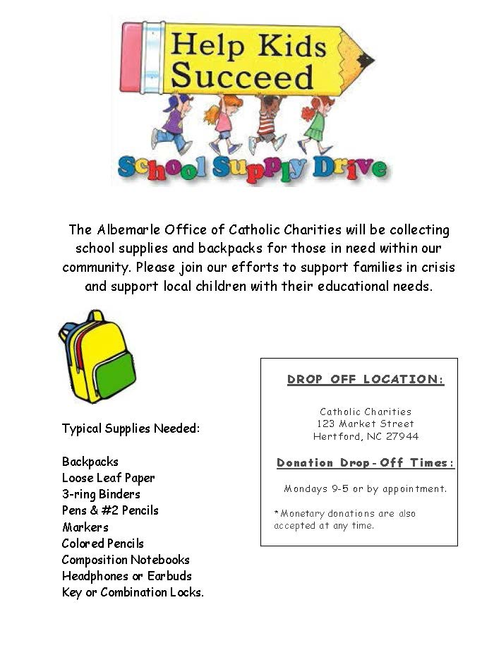 Albemarle School Supply Drive