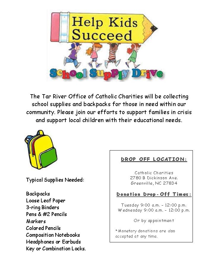 Tar River School Supply Drive