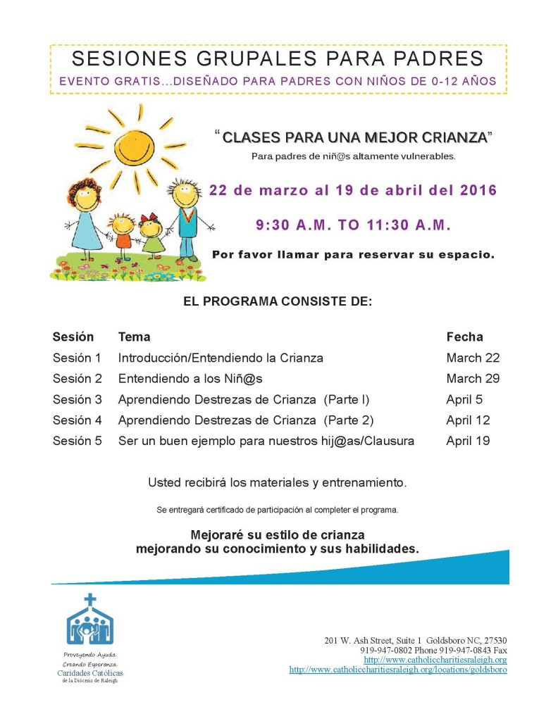 Group Parenting Flyer Spanish
