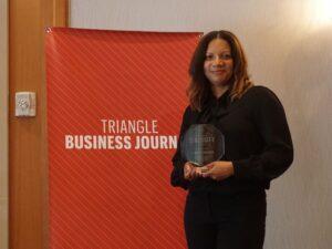 Lisa Perkins with her TBJ Diversity Award